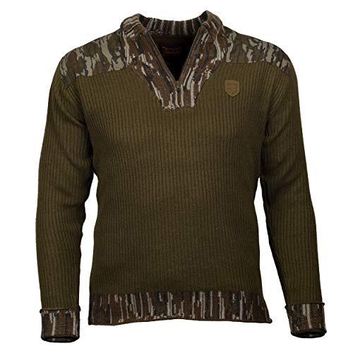 Gamekeepers Mossy Oak Woodsman Merino Wool Sweater (Bark, X-Large)