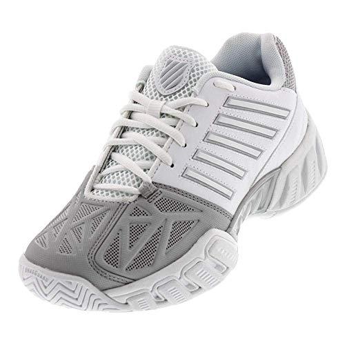 Junior Sport Swiss - K-Swiss Juniors` Bigshot Light 3 Tennis Shoes White and Silver (7)