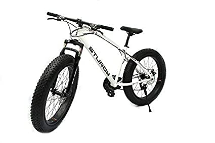 Sy Bikes Mountain Carbon Steel Fat Bike With 26x4 Inch Tyres White