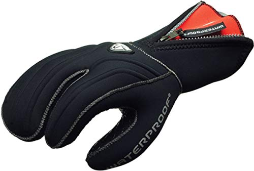 Waterproof G1 3-Finger 7mm Semi Dry Gloves - Large (Dive Stretch Glove)