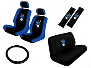 11 piece auto interior gift set 2 hawaii aloha blue front low back bucket seat. Black Bedroom Furniture Sets. Home Design Ideas