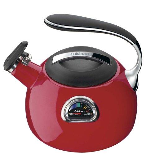 Cuisinart PTK-330R PerfecTemp Porcelain Enameled Teakettle, Red by Cuisinart (Image #2)