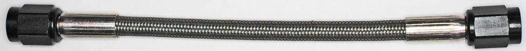 Long Stainless Steel Braid Teflon Hose//black straights NC AN-3 72 In