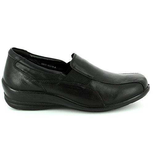 Skye Los Slip Zapatos Padders Womens En negro Casual XwW7v