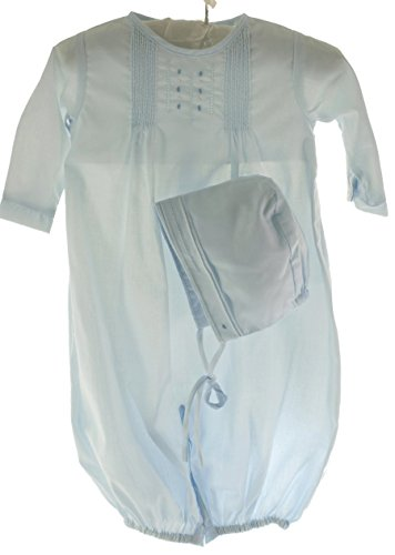 Set Gown Convertible (Boys Blue Convertible Take Home Gown & Bonnet Set (NB) (NB))