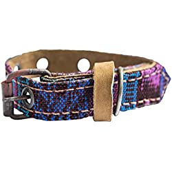 Mayan Pet Collar For Small Size Cats & Dogs (5.75 - 9.75 Inches) Handmade by Hide & Drink :: Tropical Blue