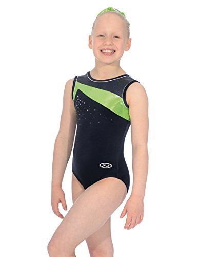 The Zone Z298ICO round neck sleeveless leotard with Smooth black Velour/Lycra