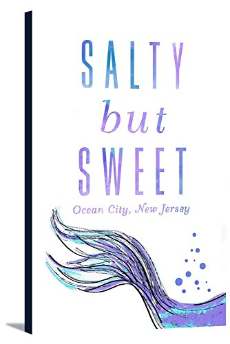 Ocean City, New Jersey - Salty But Sweet - Mermaid Tale (12x18 Gallery Wrapped Stretched Canvas) -