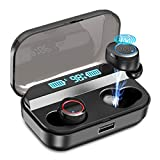 Wireless Earbuds,Kissral Bluetooth 5.0 Earbuds with 3000mAh Charging Case LED Battery Display 90H Playtime in-Ear Bluetooth Headset IPX7 Waterproof True Wireless Earbuds for Work Sports