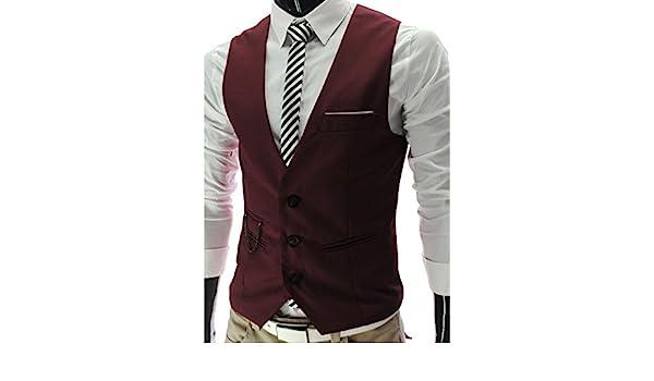 S/&S Men Fashion Slim Fit Formal Waistcoat 3 Button V-Neck Business Suit Vests