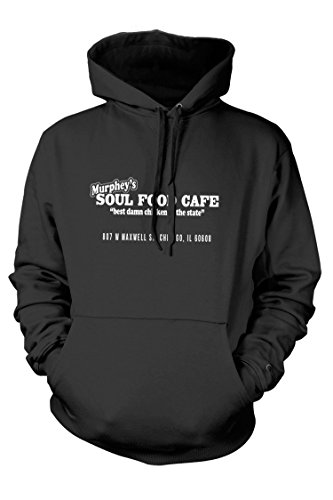 Price comparison product image BLUES BROTHERS inspired Matt Guitar Murpheys SOUL FOOD CAFE, Hoodie, Large, Charcoal