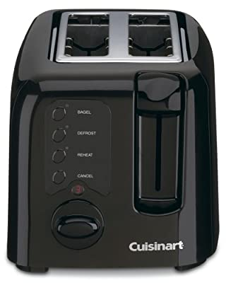 Cuisinart Electronic Compact 2-Slice Black Toaster by Cuisinart