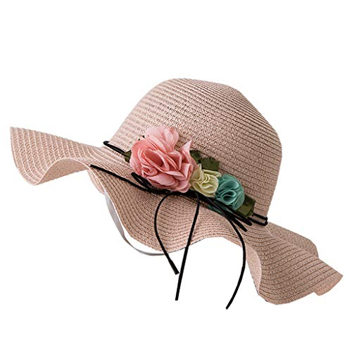 12e09080 SnowLily Hat, Women Wide Brim Floppy Beach Cap Adjustable Sun Hat for  Summer Beach Caps Beige at Amazon Women's Clothing store: