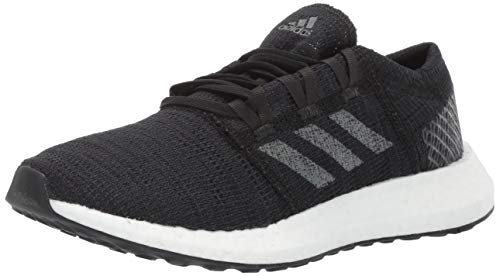 adidas Unisex Pure Boost Go Running Shoe, Black/Grey/Carbon, 7 M US Little Kid