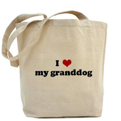 CafePress–I Love My Granddog–Borsa di tela naturale, panno borsa per la spesa