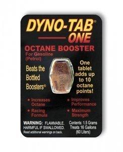 Dyno-tab One Octane Booster. (Dynotab) Maximum Strength Racing Formula