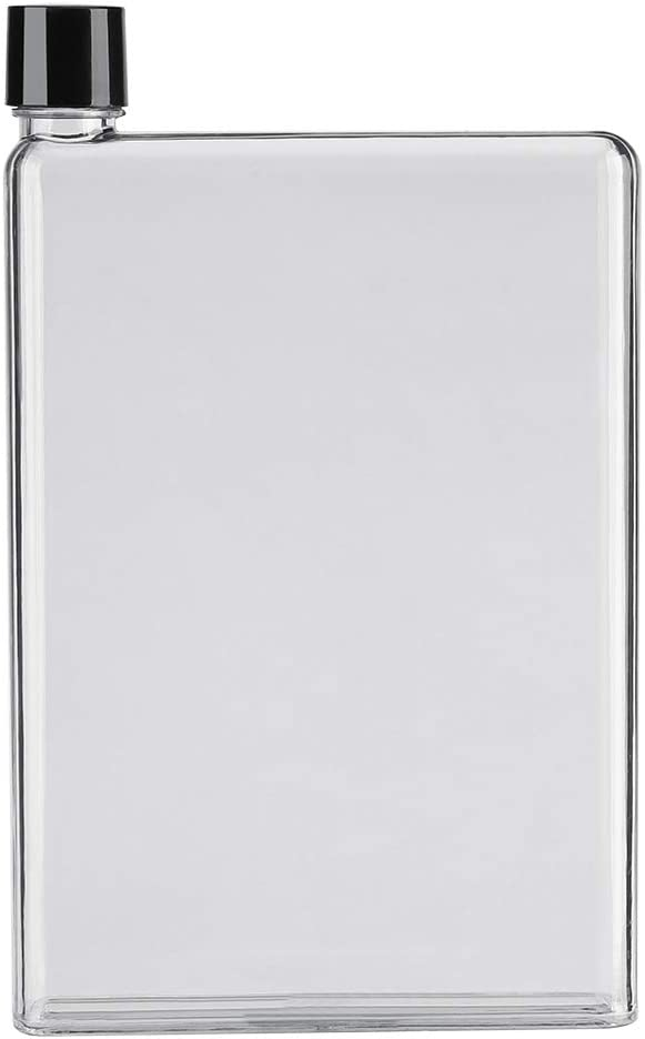 750ml A5 Botella de Agua Portable Transparente Reutilizable para Deporte, Viaje, Actividades interiores y Exteriores(Blanco)