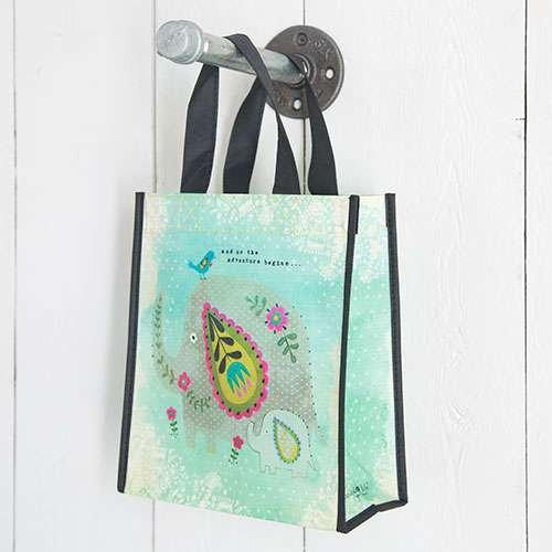 Set of 3 of Recycled Bags - ''Adventure Begins'' Medium