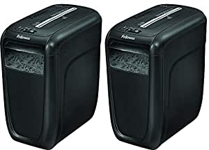 Fellowes Powershred 60Cs 10-Sheet Cross-Cut Paper and Credit Card Shredder with SafeSense Technology (4606001) (Pack of 2)