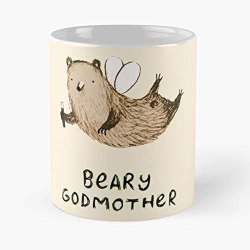 Beary Godmother Fairy Faery - Coffee Mug Tea Cup Gift 11oz Mugs The Best Gift Holidays.