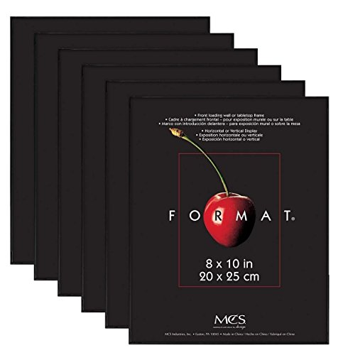 MCS Format Frame, 8 by 10-Inch, Black, 6-Pack
