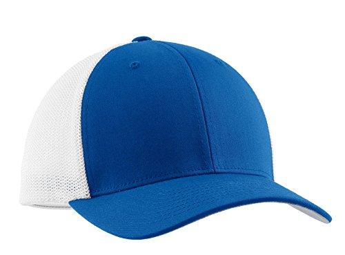- Port Authority Men's Flexfit Mesh Back Cap L/XL True Royal/ White