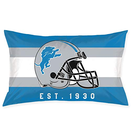 - Marrytiny Custom Rectangular Pillowcase Colorful Detroit Lions American Football Team Bedding Pillow Covers Pillow Cases for Sofa Bedroom Bedding Car Home Decorative - 20x30 Inches