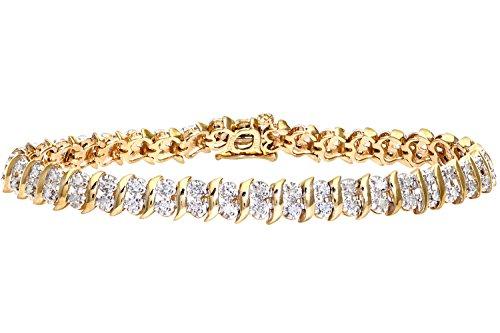 Naava - Bracelet - Femme - Or jaune (9 carats) 11 Gr - Diamant 1 Cts