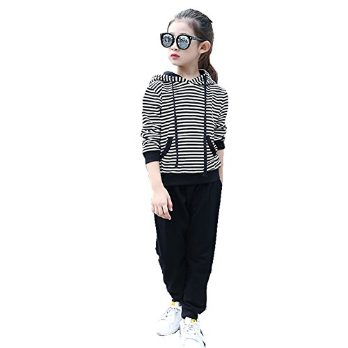 ftsucq-girls-striped-hoodies-pullover-sports-two-pieces-setblack-120
