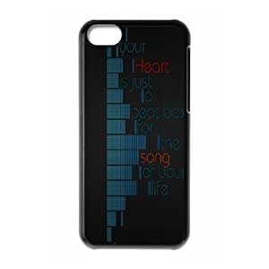 XiFu*Meiiphone 4/4s Case,Your Heart Is A Beat Box Song Of Life Hard Shell Back Case for Black iphone 4/4s Okaycosama374394XiFu*Mei