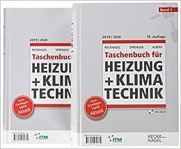 Recknagel - Taschenbuch für Heizung und Klimatechnik 79. Ausgabe ...