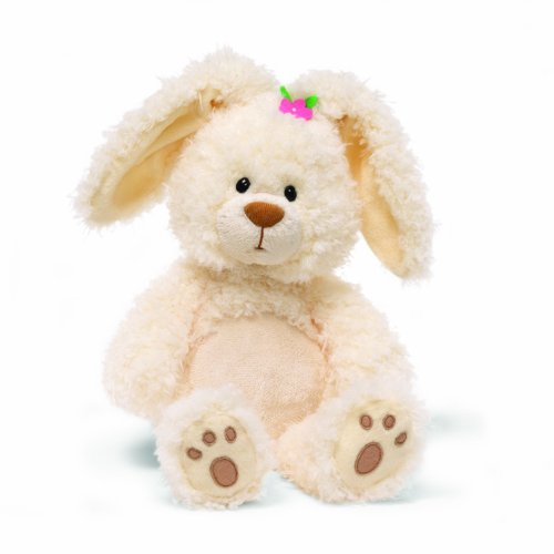 GUND Little Magnolia Easter Bunny 13 Inch Plush Rabbit Pink Flower Paw Pads Toy