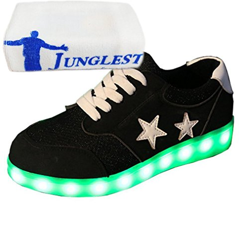 Schwarz Handtuch Lade Beleuchtung Present LED kleines Unisex Schuhe USB Blink Farbe 7 JUNGLEST® c32 Turnschuh tS1H5xw1q