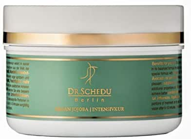 Dry & Frizzy Hair Mask Intensive Treatment with Argan & Jojoba Oil by Dr. Schedu Berlin  Deep Conditioning & Repair   Anti Dry & Frizz Hair   Avocado & Almond Oil, Silk Proteins, Shea Butter ● 200 ML