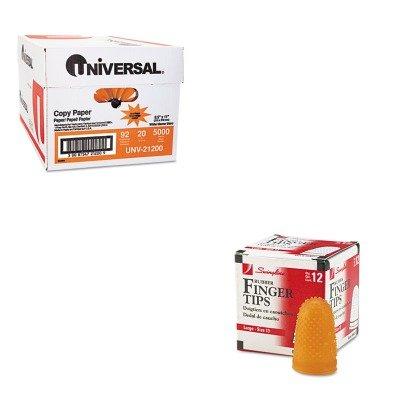 KITSWI54033UNV21200 - Value Kit - Swingline Rubber Finger Tips (SWI54033) and Universal Copy Paper (UNV21200)