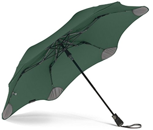 """BLUNT Metro Travel Umbrella with 37"""" Canopy and Wind Resistant Radial Tensioning System - Forest Green (Green Forest Canopy)"""
