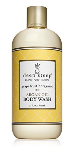 Deep Steep Argan Oil Body Wash, Grapefruit Bergamot, 17 Ounce
