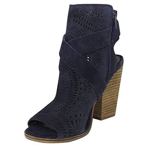 (Naughty Monkey Women's Zuzanna Ankle Bootie (10, Navy))