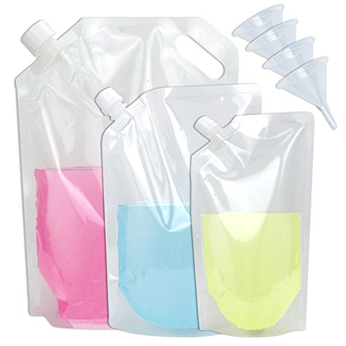 Tomnk 16pcs - 70oz, 35oz, 16oz Reusable Plastic Concealable Flask Drink Bags Foldable Water Bottle Sneak Alcohol Anywhere by Tomnk