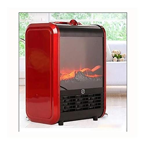 Cheap Fireplace Small Electric Heater Home Energy Saving Office Electric Heater Energy Saving (Color : Red) Black Friday & Cyber Monday 2019