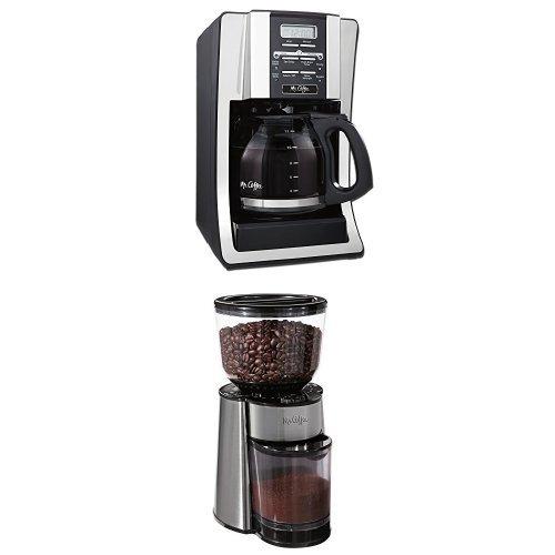 Mr. Coffee BVMC-SJX33GT 12-Cup Programmable Coffeemaker and BVMC-BMH23 Automatic Burr Mill Grinder Bundle