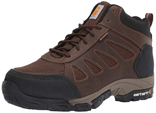 Carhartt Waterproof Hiker - Carhartt Men's Lightweight Wtrprf Mid-Height Work Hiker Soft Toe CMH4180 Industrial Boot, Dark Brown Leather/Nylon, 8.5 W US