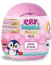 IMC Toys 91085 - Cry Babies Magic Tears Casetta Cuccioli, colori assortitti