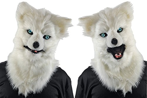 Mario Chiodo Men's Terrifying Animated White Wolf Theme