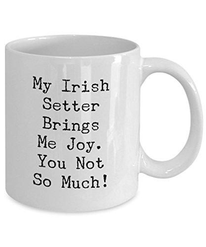 - Funny / Irish Setter Mugs / Irish Setter Brings Me Joy... / Novelty Coffee / Tea Mug / Ceramic / Glass / New