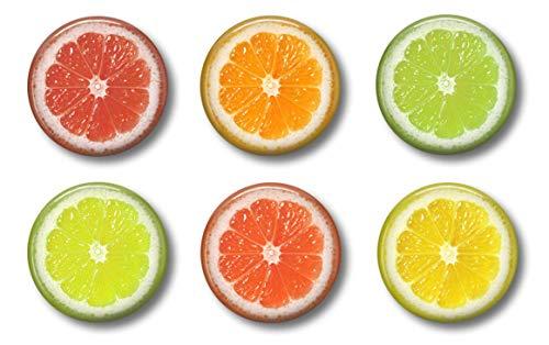 Cute Locker Magnets For Teens - Fruit Slices - Fun School Supplies - Whiteboard Office or Fridge - Gift Set (Magnets Watermelon)