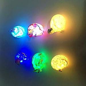 LED Dinosaur Egg Light Up Hatching Dinosaurs Toy Educational Toy For kids Simulated Dinosaur Egg Toys Model Ornaments…