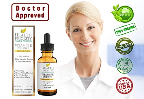 Health Priority Natural Products 100% All Natural & Organic Vitamin E Oil