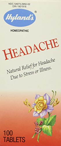 Headache Tablets By Hylands Homeopathic - 100 Tablets (Headache Relief Tablets)