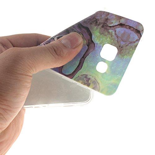 Etsue Caso para Samsung Galaxy A5(2016),Funda de silicona TPU Negro patrón de la caja ultrafina para Samsung Galaxy A5(2016),Suave diáfano de colores patrón para Samsung Galaxy A5(2016) + Gratis 1 x B búho